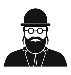 Orthodox jew icon simple style vector