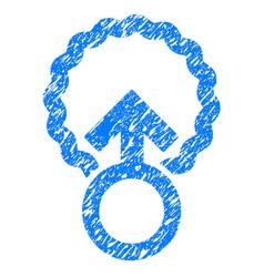 Ovum penetration grunge icon vector
