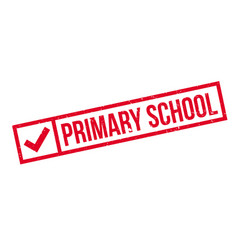 Primary school rubber stamp vector