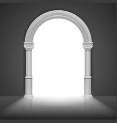 roman arch with antique column title frame vector image