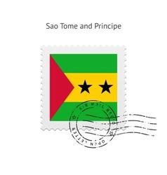 Sao Tome and Principe Flag Postage Stamp vector image vector image