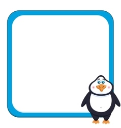School background with cheerful cute penguin vector image vector image