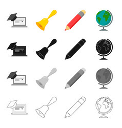 School educational institution and other web icon vector