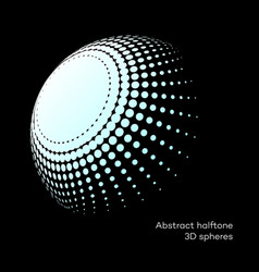 Set abstract halftone 3d spheres 8 vector