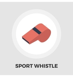 Sports whistle icon flat vector image vector image