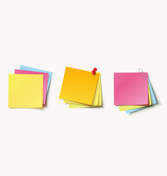 Stack of color stickers vector