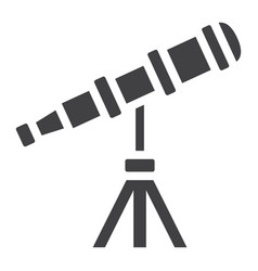 telescope solid icon astronomy and science vector image vector image