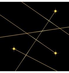 Color Laser Light Set on Black Background vector image