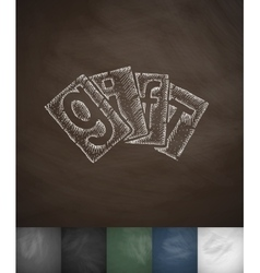 GIFT icon Hand drawn vector image