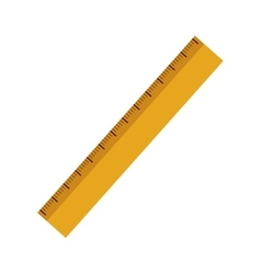 Yellow ruler icon vector