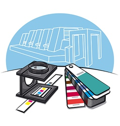 Print shop tools vector