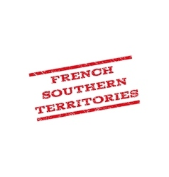 French southern territories watermark stamp vector