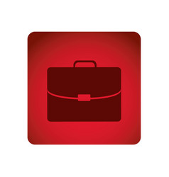 red emblem suitcase icon vector image