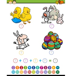 mathematic game for children vector image