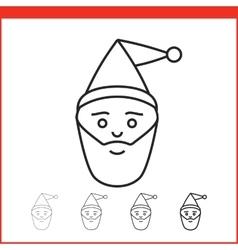 Christmas icon santa claus vector