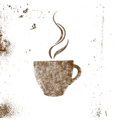 Hand drawn coffee cup vector