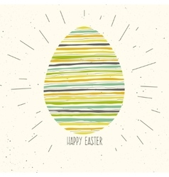 Happy easter greeting card design vector