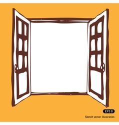 Doors are open vector image