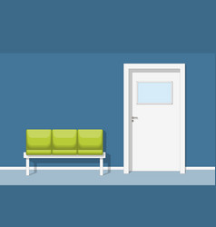A waiting room with chair vector