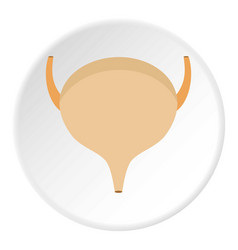 Bladder icon circle vector