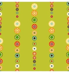 Bright circles seamless baby background vector