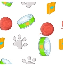 Cats pattern cartoon style vector
