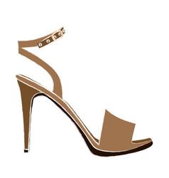 Color sketch of high heel sandal shoe vector