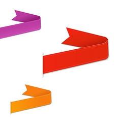 Colorful Web Ribbons Set vector image vector image