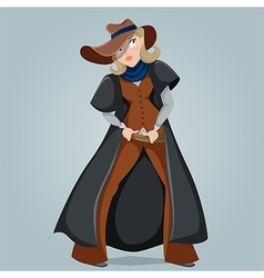 Cowgirl funny cartoon character vector