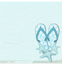 Flip flops and starfish vector