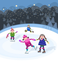 Fun On Snow vector image