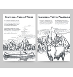 Hand drawn travel flyers vector image vector image