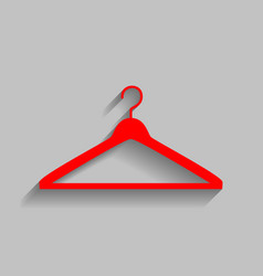 Hanger sign red icon with vector