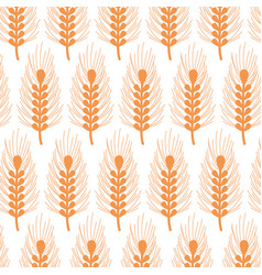 Healthy wheat organ plant nutricious background vector