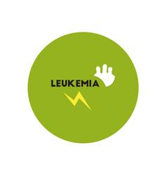 Icon on circle various symptoms of leukem vector