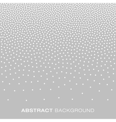 Jewelry Silver Gradient Halftone Dots Background vector image