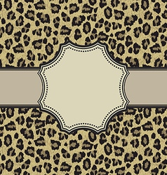 leopardroundframe vector image vector image