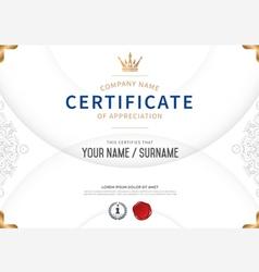Premium certificate template vector