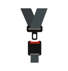 Safety belt icon in flat style vector