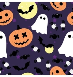 seamless pattern for Halloween Pumpkin vector image vector image