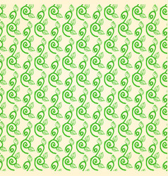 seamless pattern of hand drawn swirling branches vector image