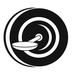 Self balancing wheel icon simple style vector