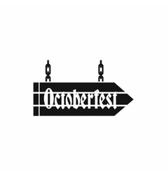 Sign octoberfest icon simple style vector