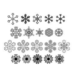 Snowflakes icons set 20 icons vector image vector image