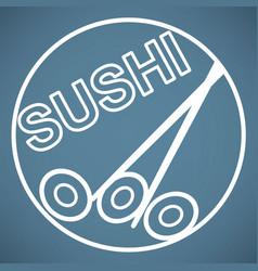 sushi icon vector image vector image