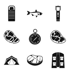 T-bone icons set simple style vector