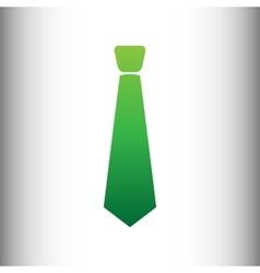 Tie sign green gradient icon vector
