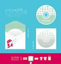 Modern soft color cd vector image