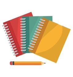 Cartoon books pencil school design vector