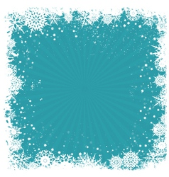 Grunge snowflake background vector image